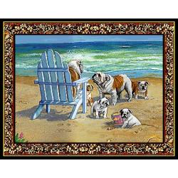 Bulldog 5 Single Tapestry Placemat