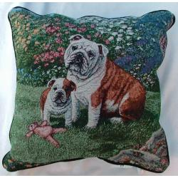 Bulldog Tapestry Pillow #4