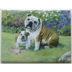 Bulldog #4 6X8 Ceramic Picture Tile