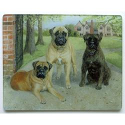 Bullmastiff Glass Cutting Board #4