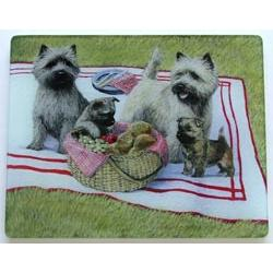 Cairn Terrier 1 Tempered Glass Cutting Board