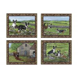 cardigan corgi placemat set
