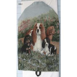 Cavalier King Charles Tapestry Garment Bag 1