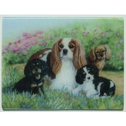 Cavalier King Charles Spaniel 4 Tempered Glass Cutting Board
