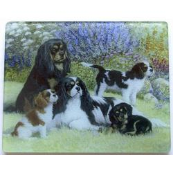 Cavalier King Charles Spaniel 5 Tempered Glass Cutting Board