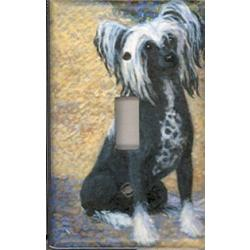 Chinese Crested 1A Single Light Switch Plate
