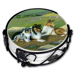 Collie coaster set