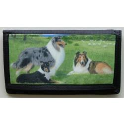 Collie Picture Checkbook Cover #1