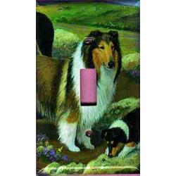 Collie Picture Single Light Switch Plate #3A