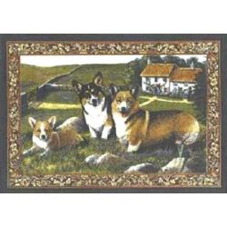 Corgi Tapestry Placemat #4 Single