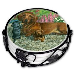 Dachshund coaster set
