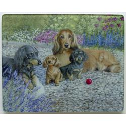 Dachshund 2 Tempered Glass Cutting Board