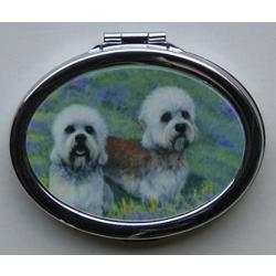 Dandie Dinmont Picture Oval Compact Mirror 1