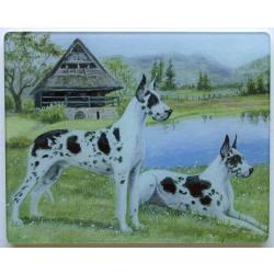 Great Dane 1 Tempered Glass Cutting Board