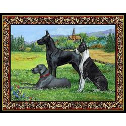 Great Dane 3 Single Tapestry Placemat
