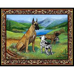 Great Dane 4 Single Tapestry Placemat