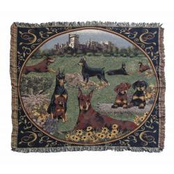 Doberman blanket throw 2