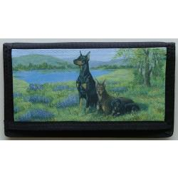 Doberman Pinscher Picture Checkbook Cover #6