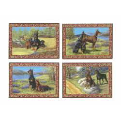 Doberman placemat set