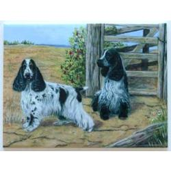 English Cocker Spaniel #3 6X8 Ceramic Picture Tile