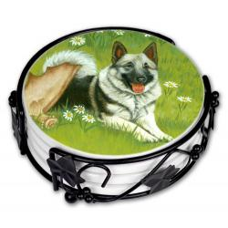 Elkhound coaster set