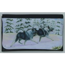 Norwegian Elkhound Picture Wallet #1