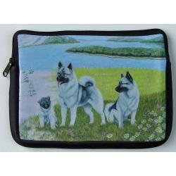 Elkhound Picture Netbook Sleeve #2