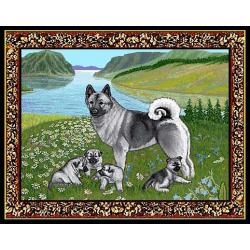 Norwegian Elkhound 3 Single Tapestry Placemat