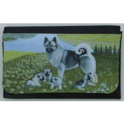 Norwegian Elkhound Picture Wallet #3