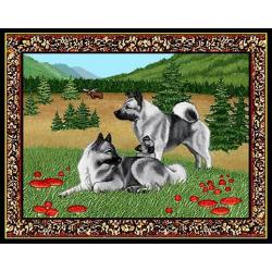 Norwegian Elkhound 4 Single Tapestry Placemat