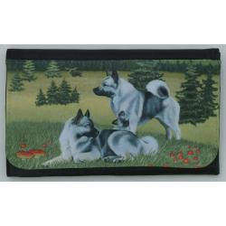 Norwegian Elkhound Picture Wallet #4
