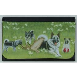 Norwegian Elkhound Picture Wallet #5A