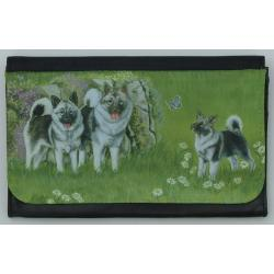 Norwegain Elkhound Picture Wallet #5B