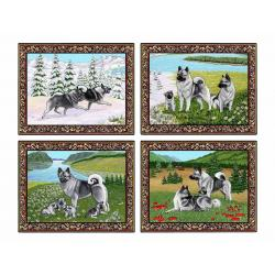 Elkhound placemat set