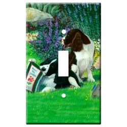 English Springer Picture Single Light Switch Plate #1B