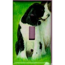 English Springer Picture Single Light Switch Plate #1C