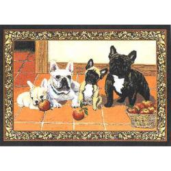 French Bulldog Set of Four Tapestry Placemats