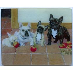 French Bulldog Tempered Glass Cutting Board 1