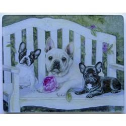 French Bulldog Tempered Glass Cutting Board #6
