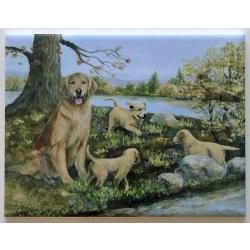 Golden Retriever #3-6X8 Ceramic Picture Tile