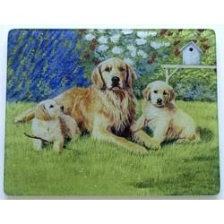 Golden Retriever 1 Tempered Glass Cutting Board