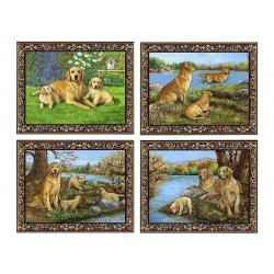 Golden retriever placemat set