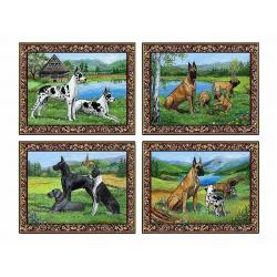 Great dane placemat set