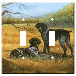 German Shorthair Picture Double Light Switch Plate #1A