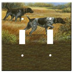 German Shorthair Picture Double Light Switch Plate #2A