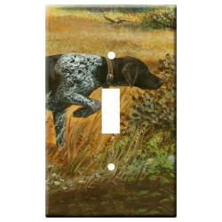 German Shorthair Picture Single Light Switch Plate #2A