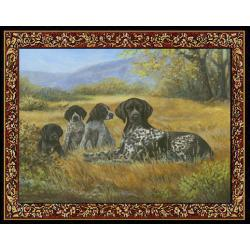 German Shorthair 4 Single Tapestry Placemat