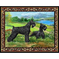 Giant Schnauzer Set of Four Tapestry Placemats