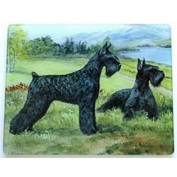Giant Schnauzer 2 Tempered Glass Cutting Board