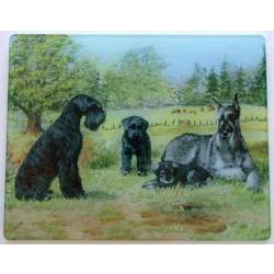 Giant Schnauzer 3 Tempered Glass Cutting Board